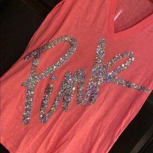 PINK Victoria's Secret Tops - Victoria's Secret PINK Sequin T-shirt